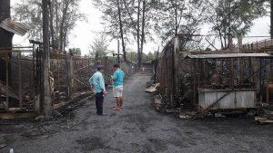 brand auf Bang Niang Markt