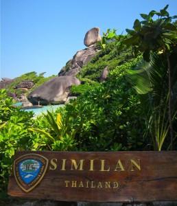 Similan Islands Schild