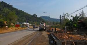 Khao Lak Baustelle Highway 4