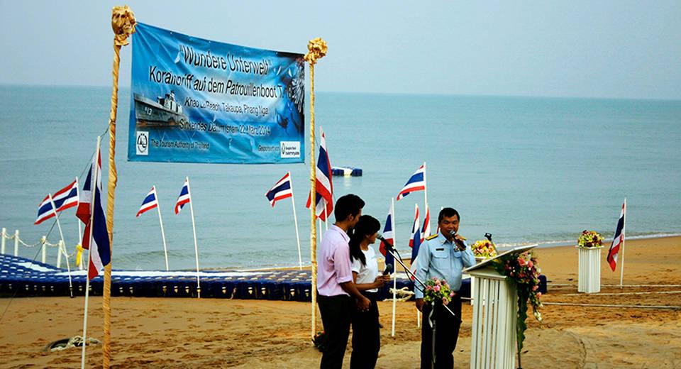 khao lak wreck park zeremonie