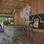 Dei neue Monkey Bar im Aufbau