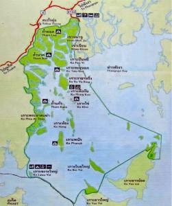 Phang Nga Bay Karte