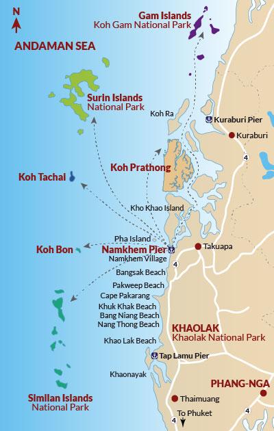 Andaman Thailand Karte