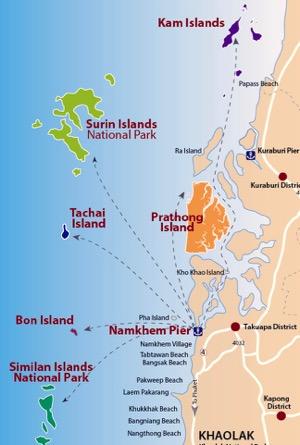 Inseltour Karte