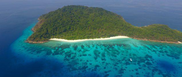 Koh Tachai Luftaufnahme