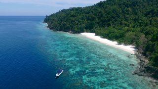 Surin Insel Strand und Riff
