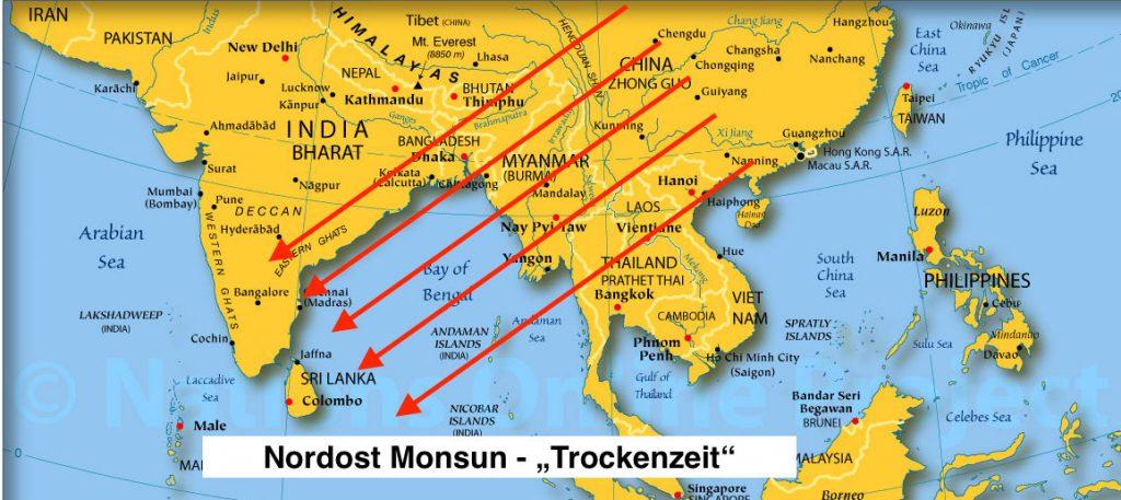 Nordost Monsun - Trockenzeit